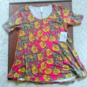 NWT 3/$40 LuLaRoe Perfect T Pink Floral S